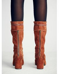 Free People | Brown Cantrell Lace-up Boot | Lyst