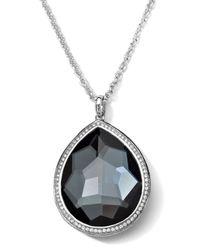 Ippolita - Metallic Stella Medium Hematite Teardrop Pendant Necklace - Lyst