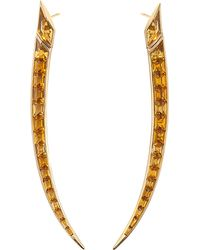 Shaun Leane - Multicolor Sabre 18ct Yellow-gold And Citrine Earrings - Lyst