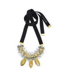 Marni - Yellow Savana Crystal and Horn Necklace - Lyst