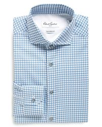 Robert Graham - Black 'tavo' Tailored Fit Houndstooth Dress Shirt for Men - Lyst