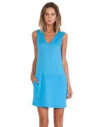 Lanston - Blue Pocket Sheath Dress - Lyst