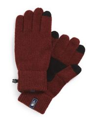 The North Face - Red 'salty Dog' E-tip Gloves for Men - Lyst
