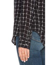 Sanctuary - Gray Silk Tailored Boyfriend Shirt - Lyst