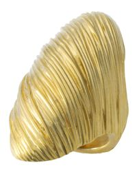 T Tahari | Metallic Gold-tone Wrapped Statement Ring | Lyst