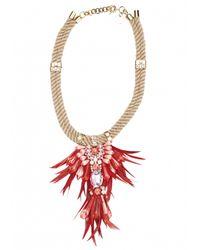 Matthew Williamson | Pink Hibiscus Tribal Jewel Necklace | Lyst