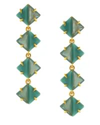 Vince Camuto - Green Gold-Plated Linear Drop Earrings - Lyst
