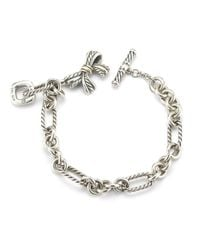 David Yurman - Multicolor Pre-Owned: Toggle Bow Charm Bracelet In Sterling Silver - Lyst