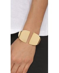 Giles & Brother - Metallic Jumbo Stirrup Hinge Cuff Bracelet - Gold - Lyst