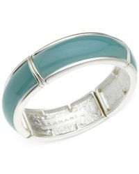 T Tahari | Green Silver-tone Blue Stretch Bracelet | Lyst