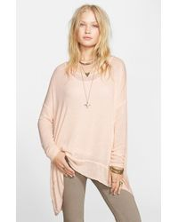 Free People | Pink 'shadow' Oversize Hacci Open Back Top | Lyst