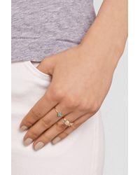 Jennifer Meyer - Blue 18-Karat Gold, Turquoise And Diamond Flower Ring - Lyst