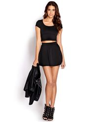 Forever 21 - Black Daring Zippered Crop Top - Lyst