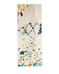 Mir - Multicolor Geometric Butterfly-print Cashmere & Wool Scarf - Lyst