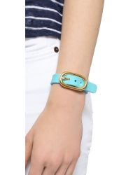 Marc By Marc Jacobs | Blue Buckle Up Silicone Bracelet - Black Multi | Lyst