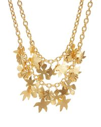 Oscar de la Renta | Metallic Two-Row Seashell Necklace | Lyst