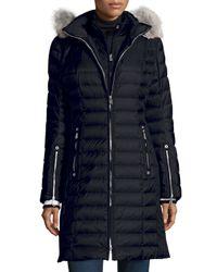 Bogner | Blue Lilia Puffer Coat W/ Fur-trim Hood | Lyst