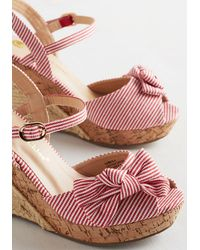 In Touch Footwear - Barbe-cue The Music Wedge In Red - Lyst