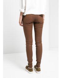 Mango - Brown Belle Skinny Jeans - Lyst