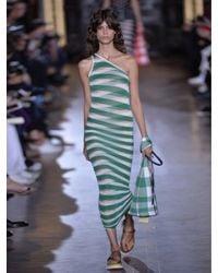 Stella McCartney - White Striped Sheer-knit Dress - Lyst