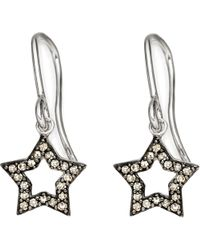 Astley Clarke | Metallic Open Star 14ct White-gold and Diamond Drop Earrings | Lyst
