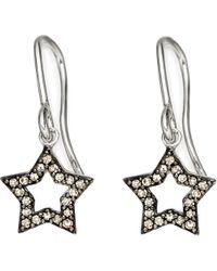 Astley Clarke - Metallic Open Star 14ct White-gold and Diamond Drop Earrings - Lyst