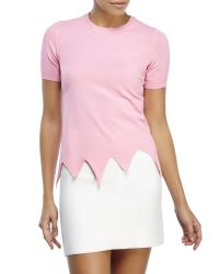 Boutique Moschino - Pink Knit Top - Lyst