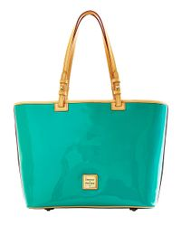Dooney & Bourke - Green Patent Leather Leisure Tote Bag - Lyst