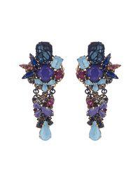 Erickson Beamon | Blue Ripple Cascade Earrings | Lyst