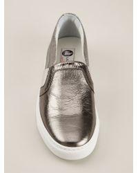 Lanvin | Metallic 'skate' Sneakers | Lyst