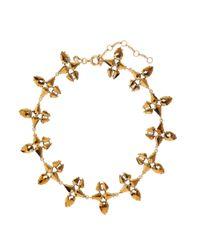 J.Crew - Metallic Radiant Necklace - Lyst