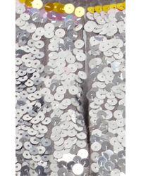 Cynthia Rowley - Metallic Sequin Cardigan - Lyst
