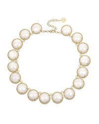Kendra Scott | White Adriana Mother-of-pearl Collar Necklace | Lyst