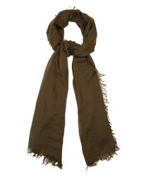 Lanvin | Green Cashmere And Cotton-blend Fine-knit Scarf for Men | Lyst