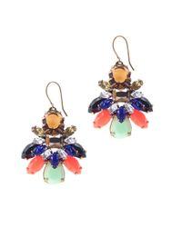 J.Crew - Multicolor Stone Burst Earrings - Lyst