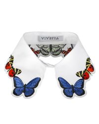 Vivetta | White Embroidered Fauna Collar | Lyst