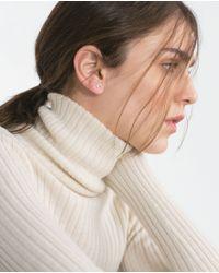 Zara | Metallic Pack Of Shiny Earrings | Lyst
