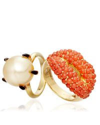 Solange Azagury-Partridge - Metallic Ballcrusher Ring - Lyst