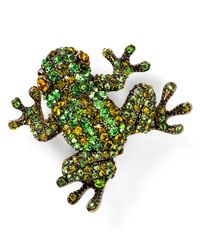 Carolee | Green Frog Pin | Lyst