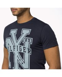 Tommy Hilfiger | Black Organic Cotton Crew Neck T-shirt for Men | Lyst