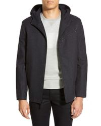 Kenneth Cole | Gray 'hipster' Zip Front Jacket for Men | Lyst