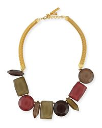 Lafayette 148 New York - Multicolor Mixed-station Collar Necklace - Lyst