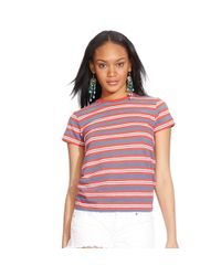 Polo Ralph Lauren | Red Striped Crewneck Tee | Lyst