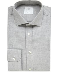 Smyth & Gibson | Gray Albany Brushed Cotton-twill Shirt for Men | Lyst