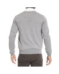 Just Cavalli - Gray Sweater Cardigan Basic for Men - Lyst