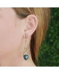Monique Péan - Metallic Blue Lepidolite Open Cage Earrings - Lyst