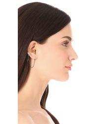 Bing Bang - Metallic Baguette Spike Ear Cuff - Lyst