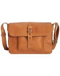 Lucky Brand | Brown Medine Leather Shoulder Bag | Lyst