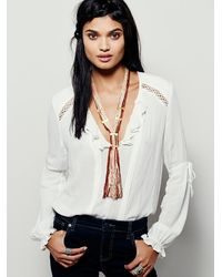 Free People - Red Womens Open Road Necklace - Lyst