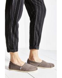 TOMS - Gray Canvas Women's Classics Slip-on Shoe - Lyst